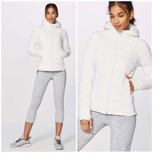 Lululemon Extra Mile White Hooded Jacket